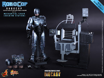 "Hot Toys 1/6 Scale Robocop MMS Diecast 12"" Figure with Mechanical Chair (Docking Station)"