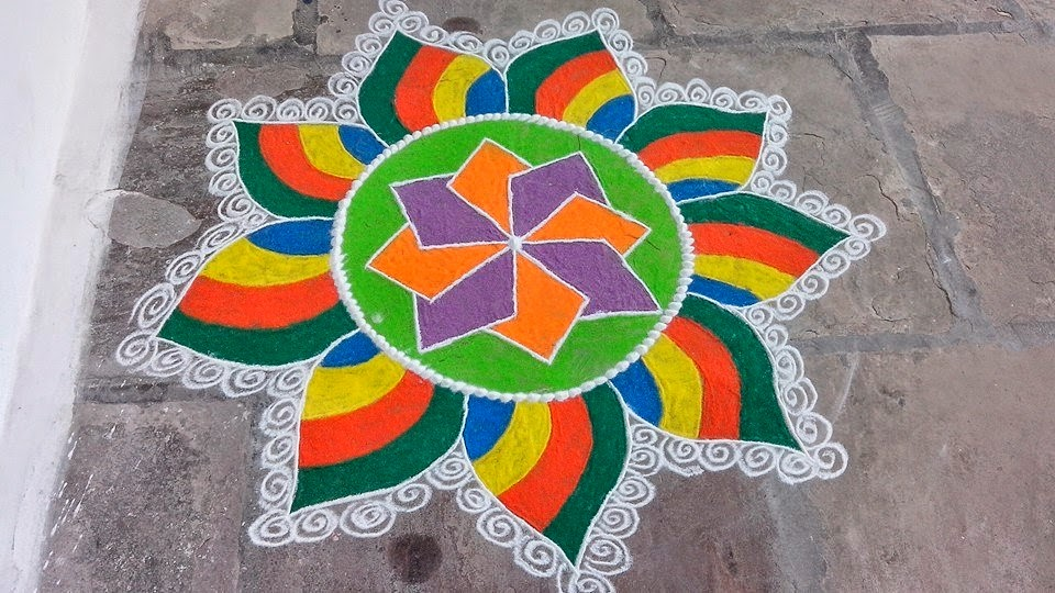 Easy Rangoli Designs 5