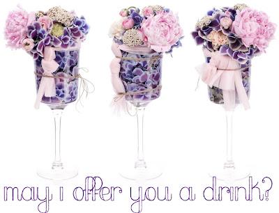 blomsterdrink drink med blommor