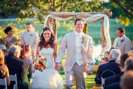 Texas Ranch Wedding, Recessional, Bride & Groom, McGowan Images
