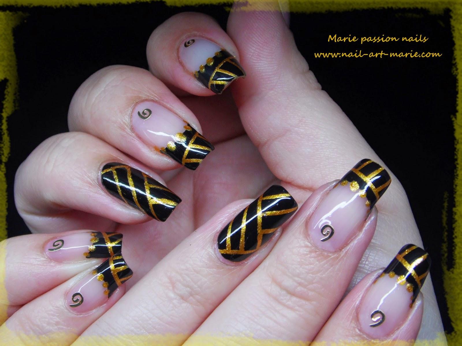 Nail art égyptien1