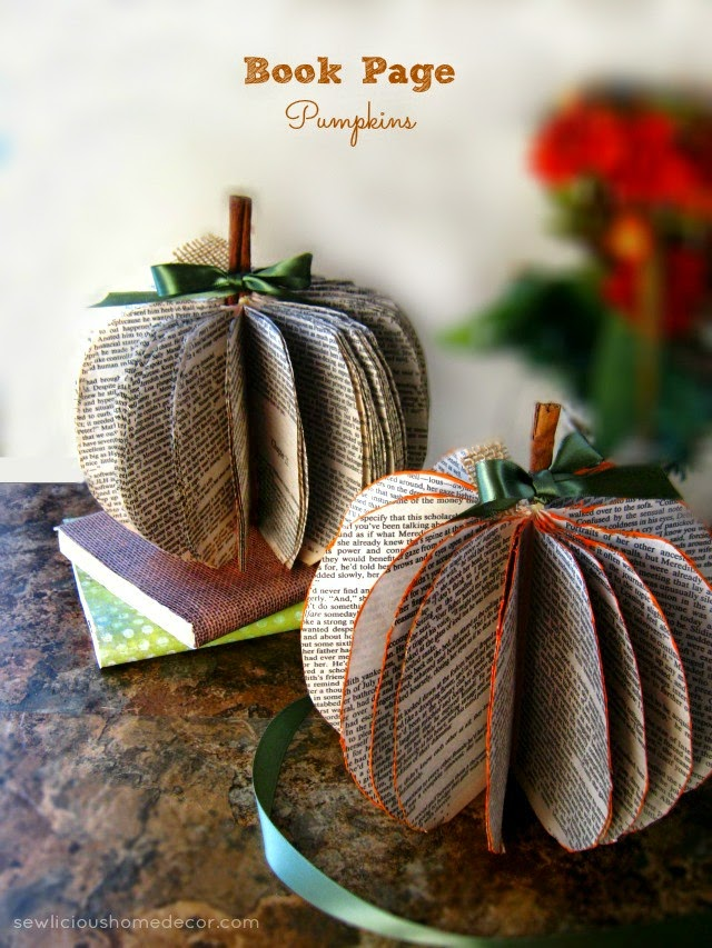 Book page pumpkins doy