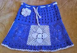 Детская юбка для девочки крючком Описание вязания
