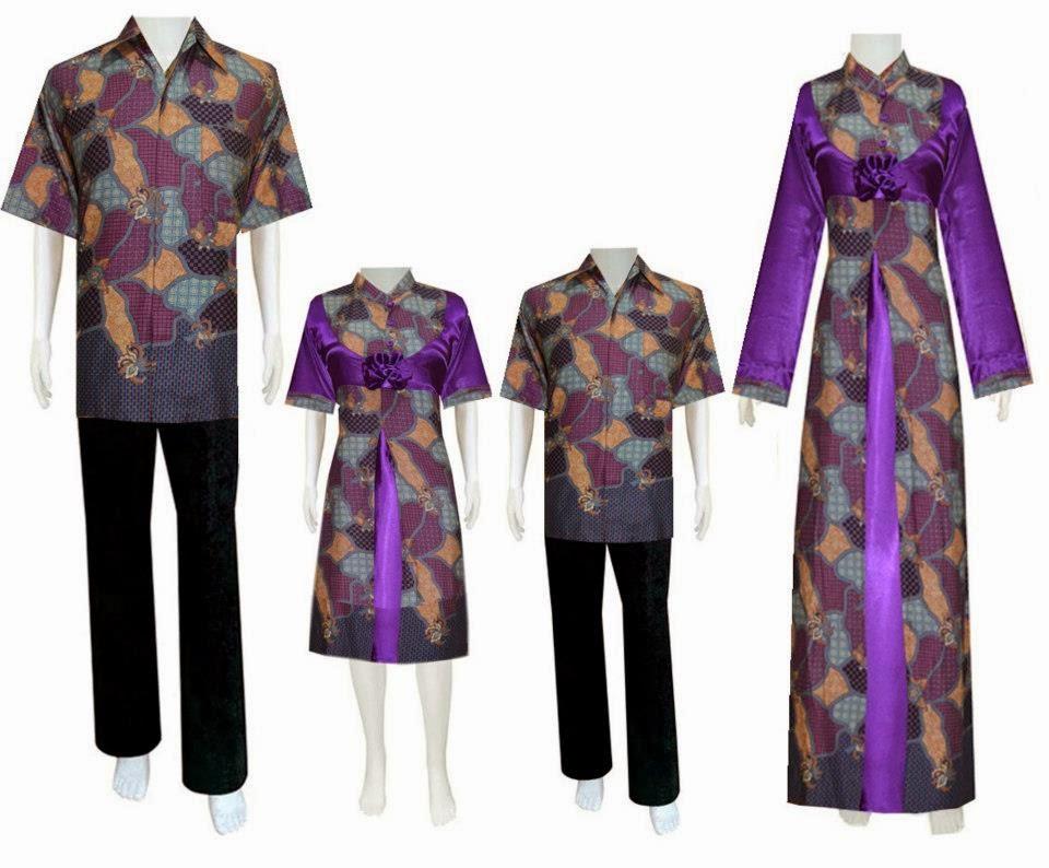 Gamis Batik Sarimbit Keluarga Muslim Modern Model Terbaru