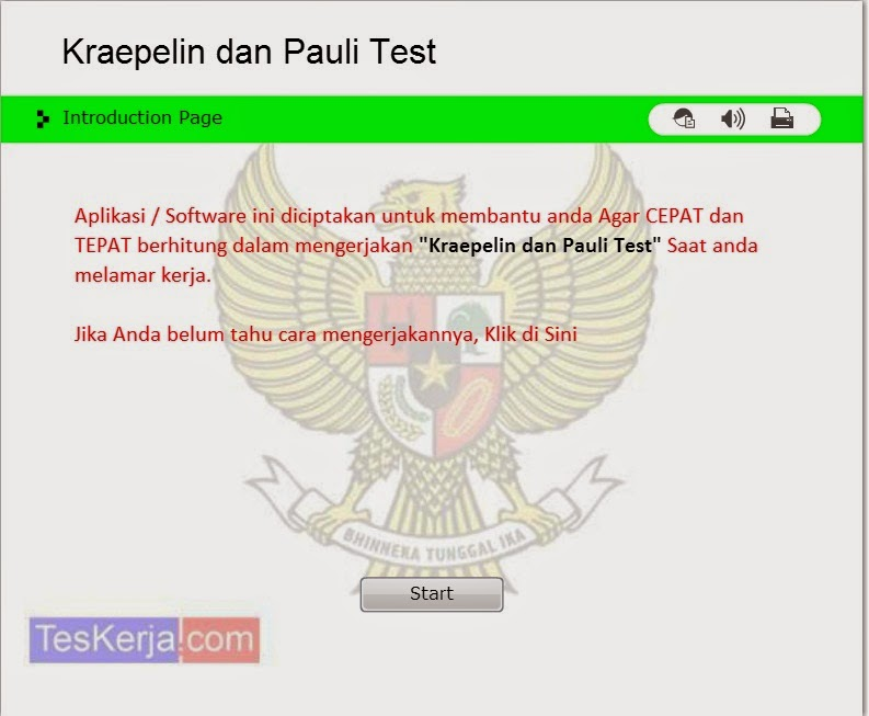 Software Psikotes Kraepelin & Pauli Test