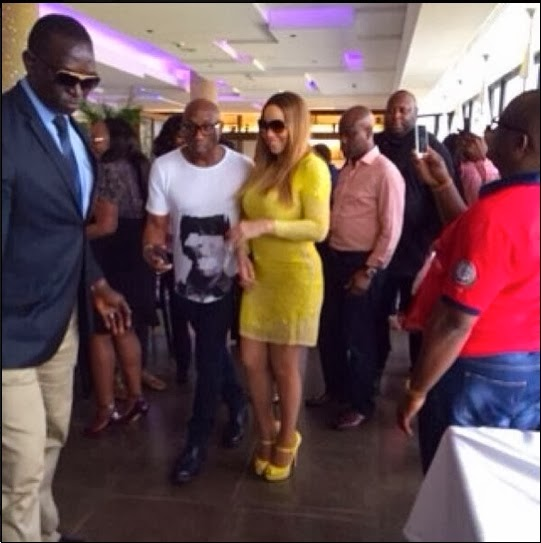 mariah carey in lagos pictures
