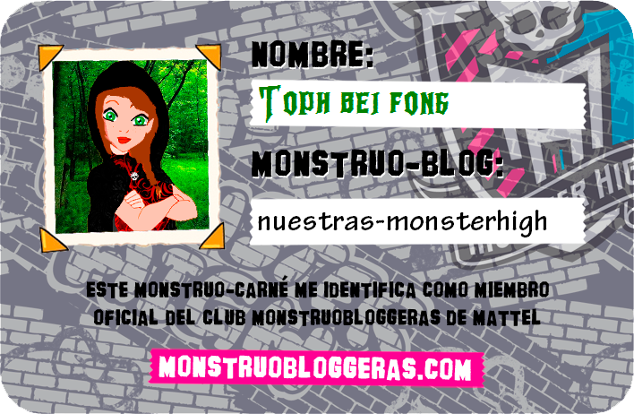 Mi carnet de Monstruobloggeras:
