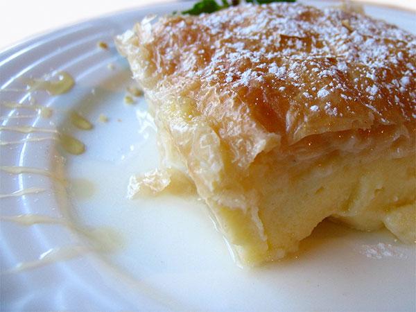 monday club: Greek Custard Tart