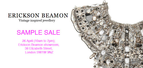 Erickson Beamon sample sale