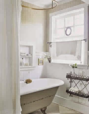 Choisir le rideau de sa salle de bain meuble salle de bain - Store de salle de bain ...