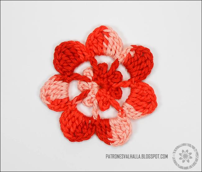 Flor de Siete pétalos a Crochet II (foto-tutorial) - PATRONES ...