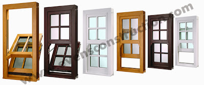 Evens construction pvt ltd window designs for Vertical sliding window design