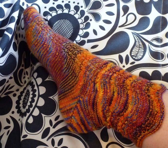 Socken mit Boomerangferse