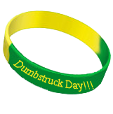 dumbstruck day wristband