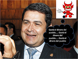 Juan Orlando Hernandez y pequeño demonio
