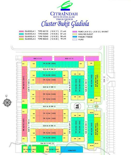 Site Plan Bukit Gladiola Citra Indah