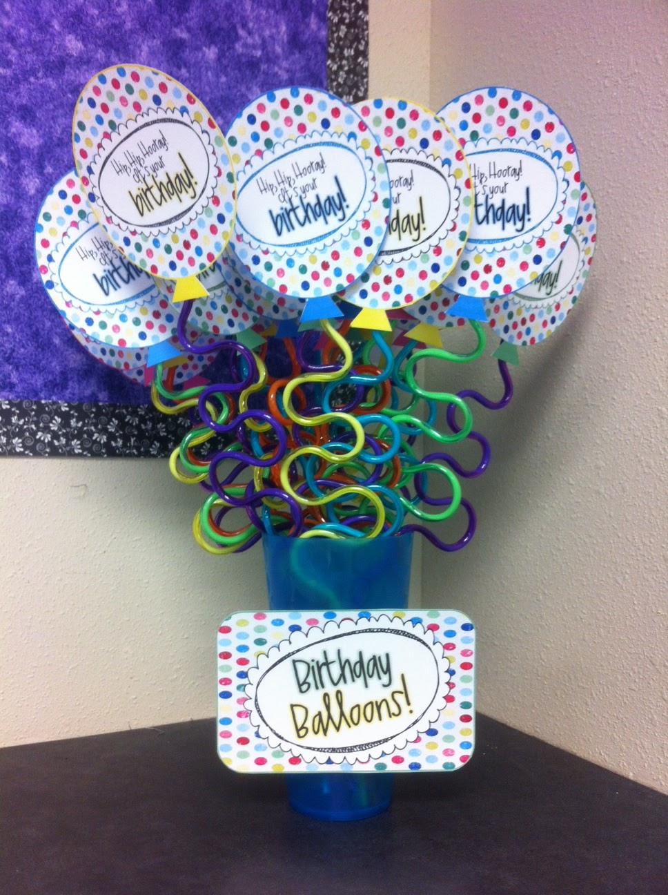 Classroom Birthday Ideas : Fifth grade frenzy birthday balloon surprises