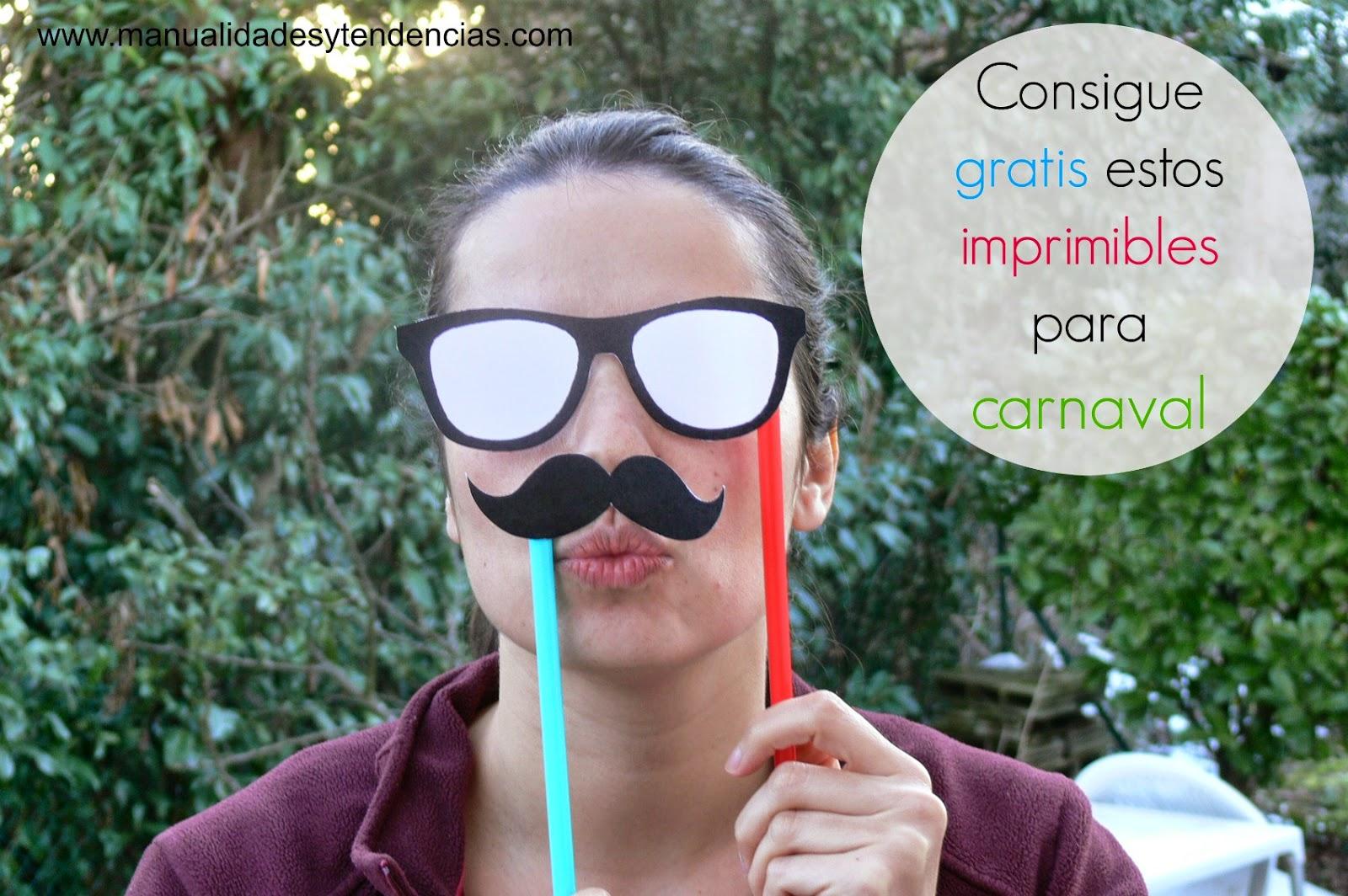 Imprimibles gratis para Carnaval