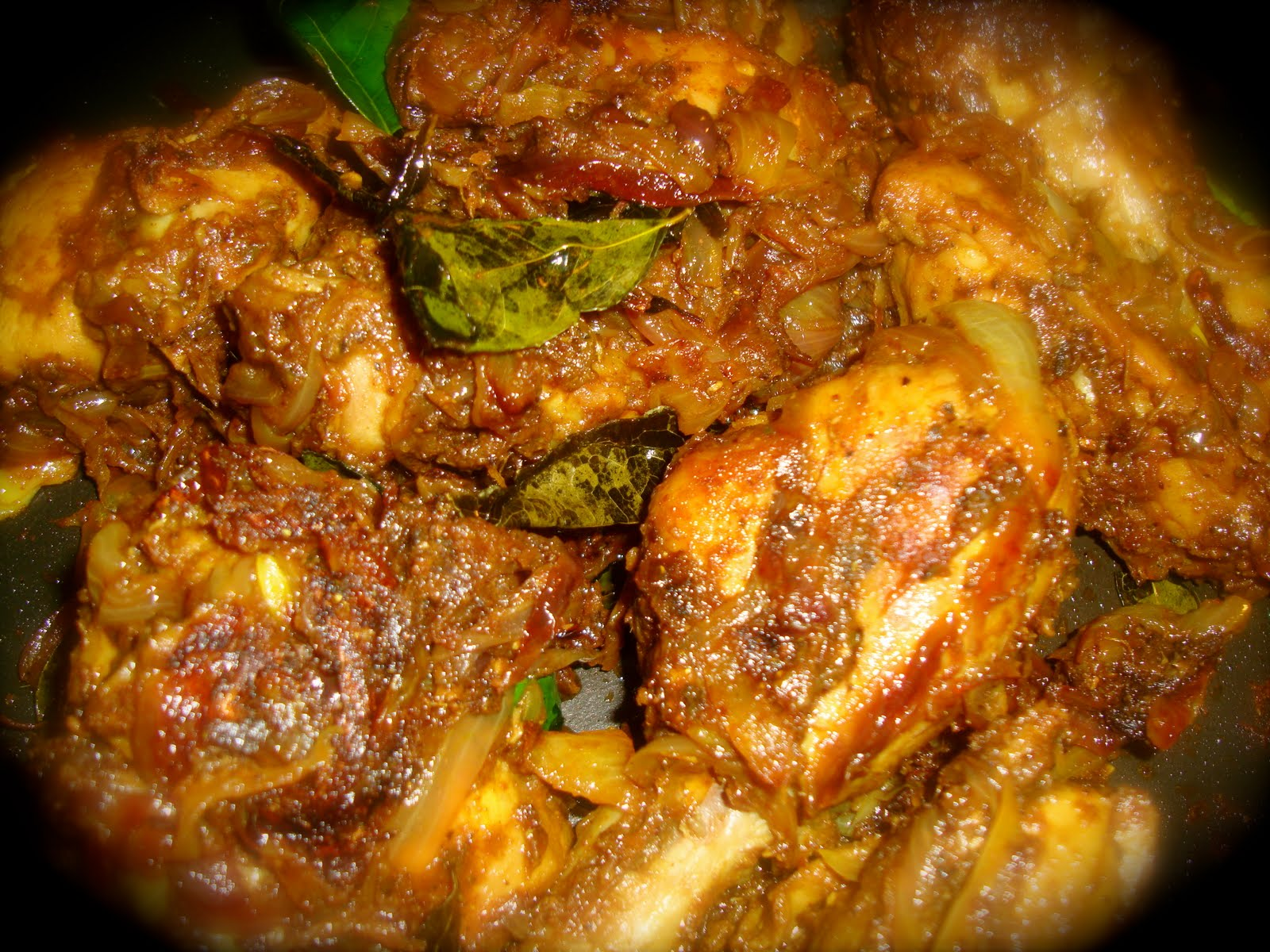 ... leaves and fry till the fried chicken was spicy curry leaf chicken fry