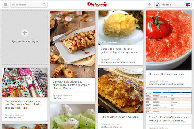 La blogosphère gourmande de Myrtille : recettes salées à essayer (sur Pinterest)