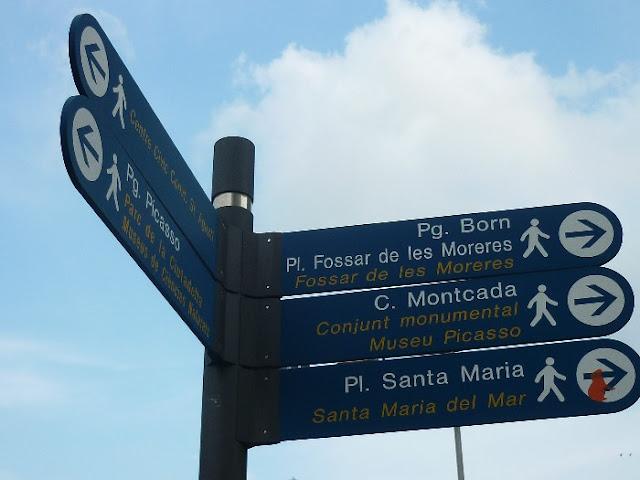 itinerario per il centro di Barcellona,
