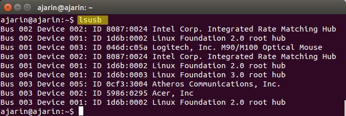 Perintah dasar linux - ls usb