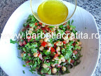 Salata de naut cu patrunjel preparare reteta
