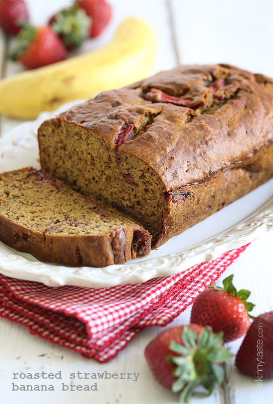 roasted strawberry banana bread Roasted Strawberry Banana Bread
