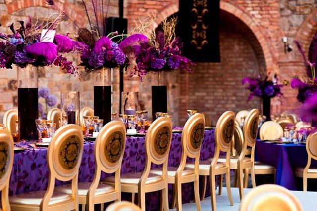 Wedding Ideas: Purple and Gold Wedding Theme