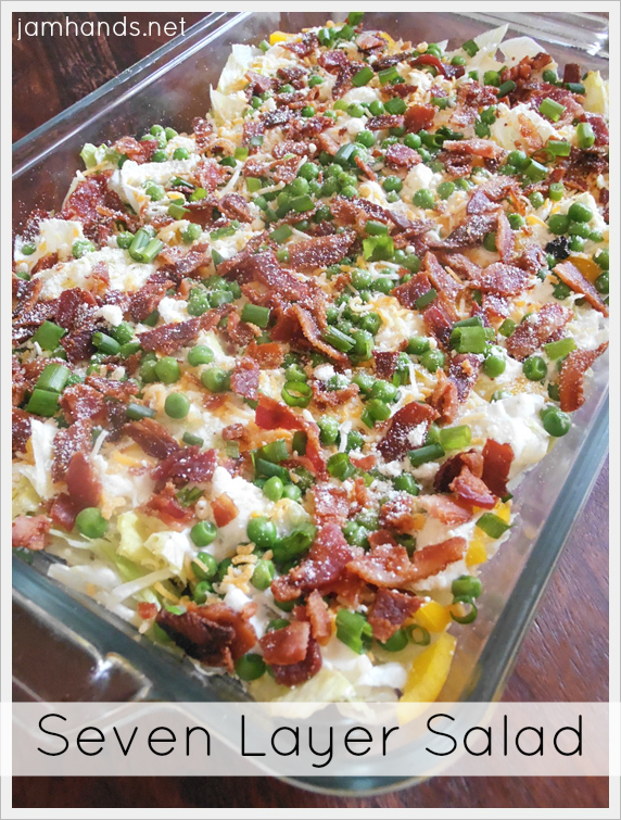 Recipe For Layered Salad In A Cake Pan