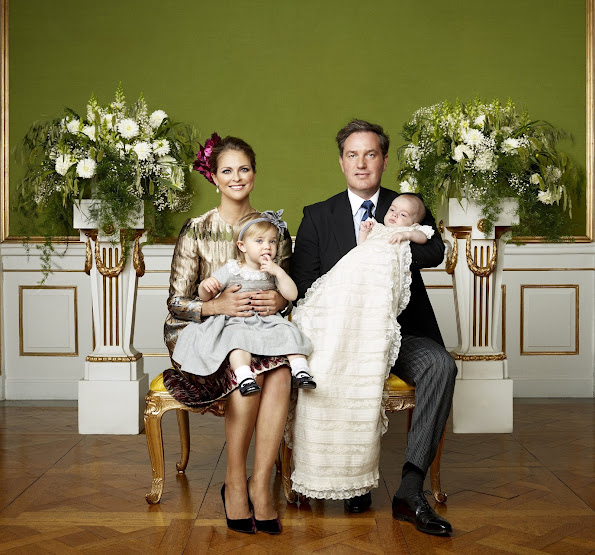 Princess Madeleine of Sweden and Christopher O'Neill, along with his big sister Princess Leonore