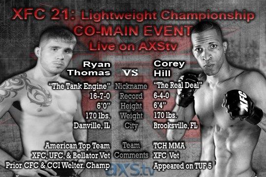Ryan Thomas vs. Corey Hill