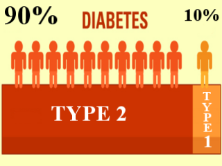 differences between diabetes 1 and 2 Susceptible age group type 1 structures affected (long term) diabetes affects the blood vessels and nerves, therefore can affect any part of the body.
