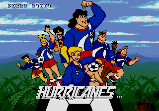Hurricanes Sega Genesis Mega Drive Game Over screen