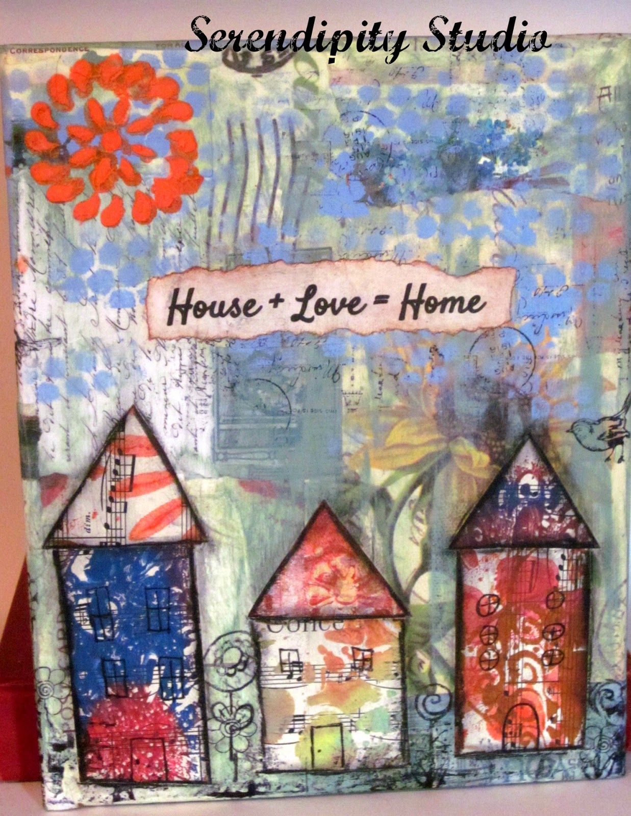 collage mixed media canvas, guest blogger post