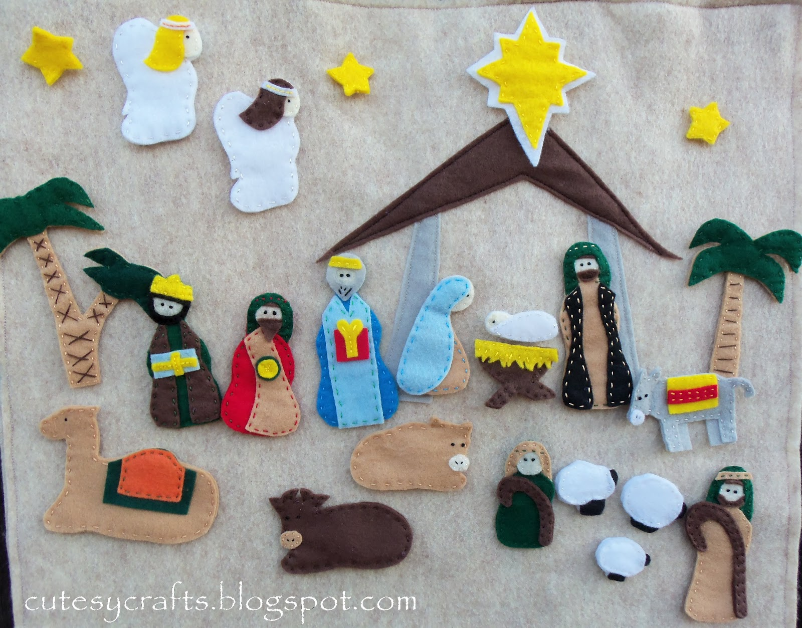 Diy Advent Calendar Nativity : Nativity advent calendar cutesy crafts