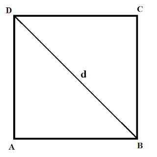 Mencari Luas Persegi Jika diketahui Panjang Diagonal
