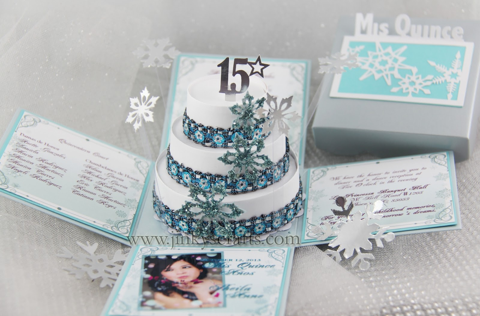 Jinky's Crafts & Designs: Winter Wonderland Quinceañera Invitations