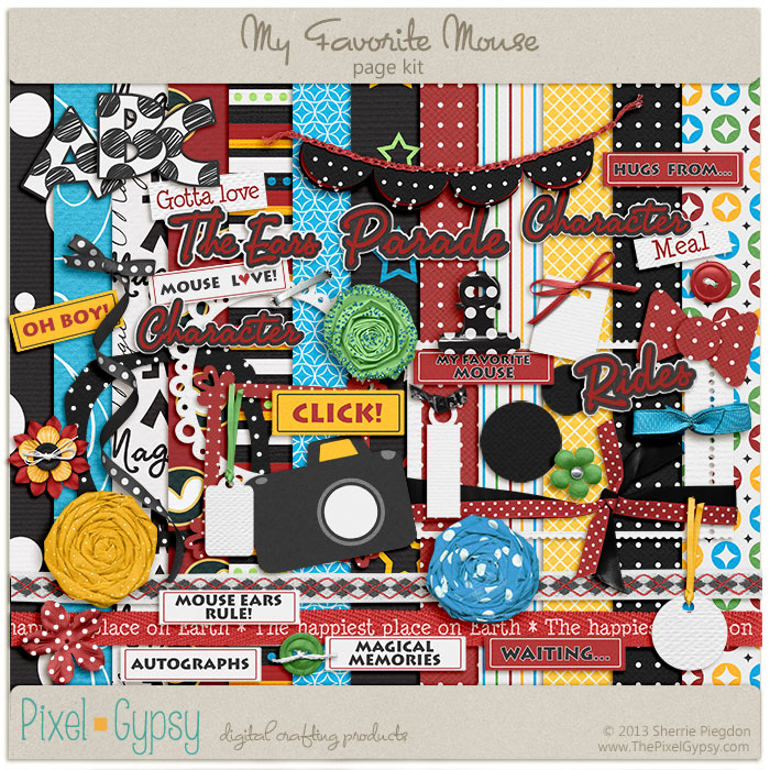 My Favorite Mouse Disney Digital Scrapbooking Page Kit