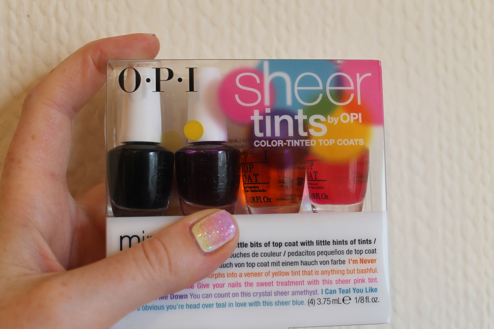 NailsByNumbers: NOTD! OPI Sheer Tints Gradient