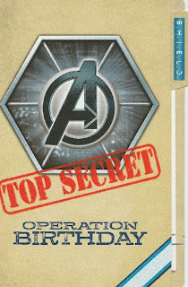 Front of Avengers 2012 Top Secret birthday card from Hallmark