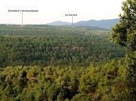 Vistes de la vall del Torrent del Bosc i de la Serra de Barnils, des del Coll de les Escaletes