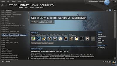 Interfaz de Steam.