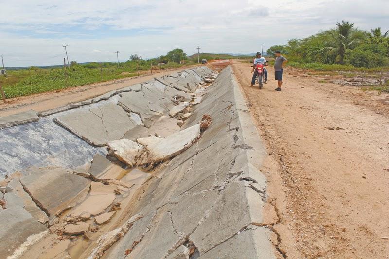 CANAL DE TRANSPOSIÇÃO DESMORONA EM ICÓ