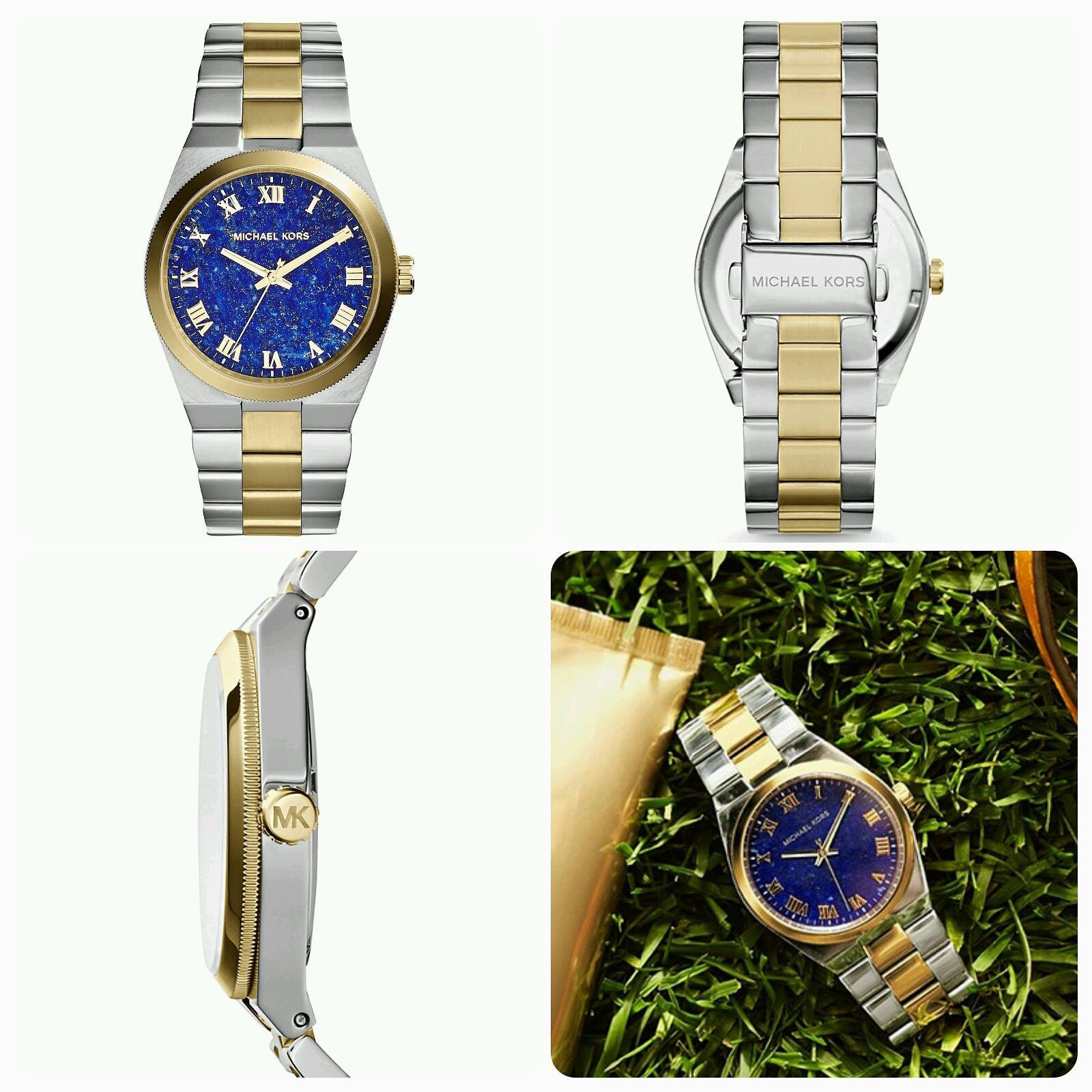 9ec753402bef PrettyTreasure2u  MK5893 Channing Two -Tone Blue Dial Watch
