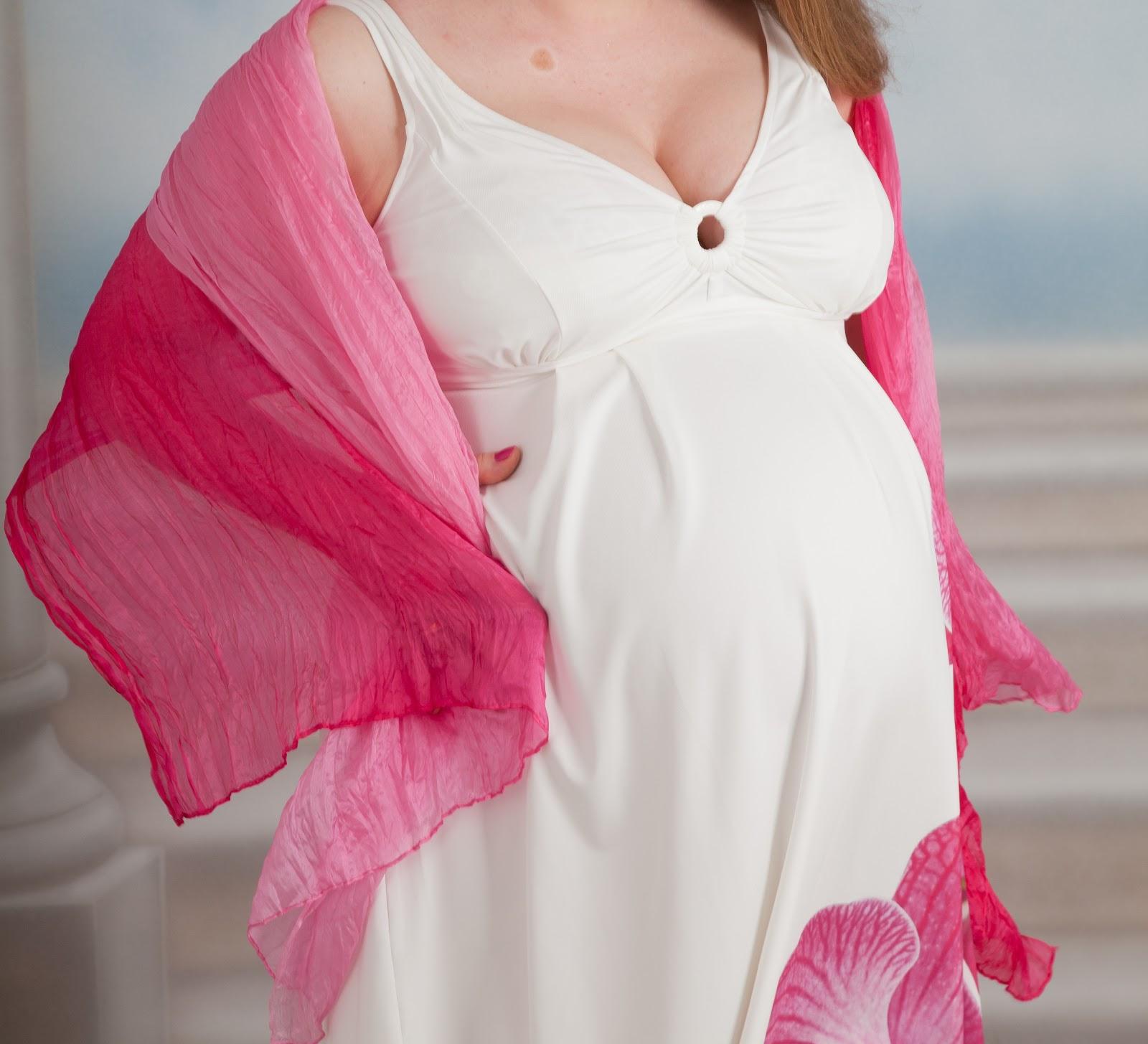 белое платье розовая орхидея