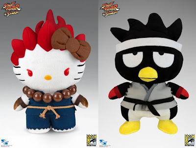 San Diego Comic-Con 2013 Exclusive Street Fighter x Sanrio Plush Figures - Hello Kitty x Akuma & Batz Maru x Ryu