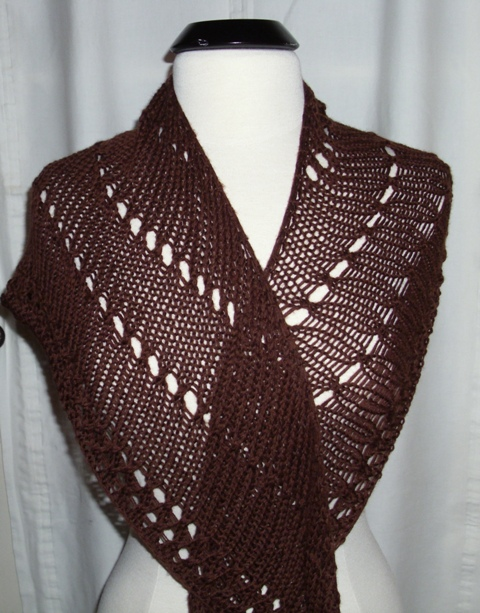 Louise Knits: An easy shawl pattern