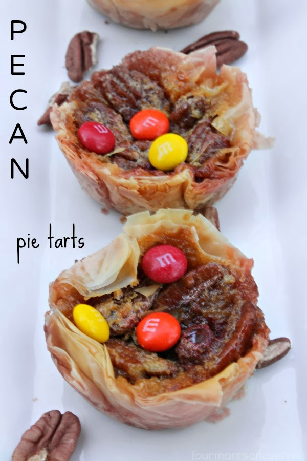 Four Marrs and One Venus: Baking Pecan Pie Tarts with M&M's