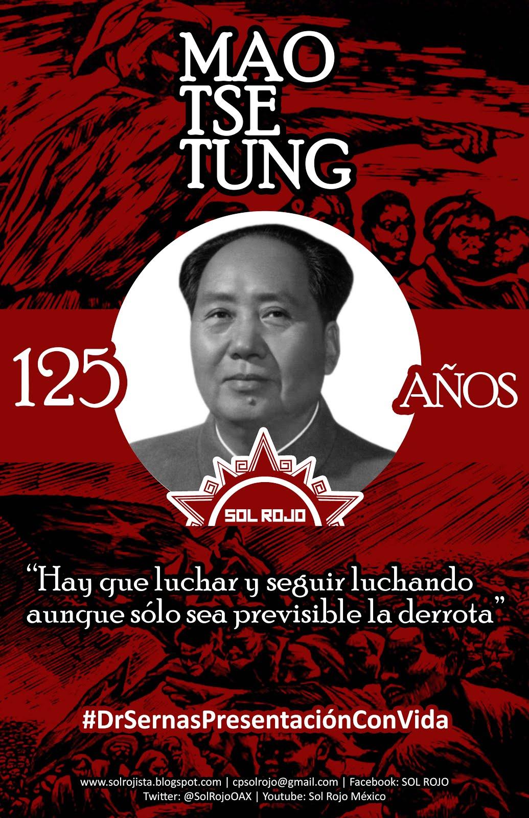 125 Aniv. del natalicio de Mao Tse Tung